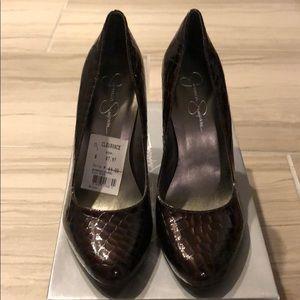 Jessica Simpson Brenda heel in Saddle color